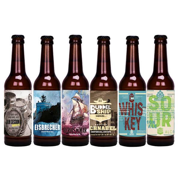 Buddelship BA & Stout craft beers