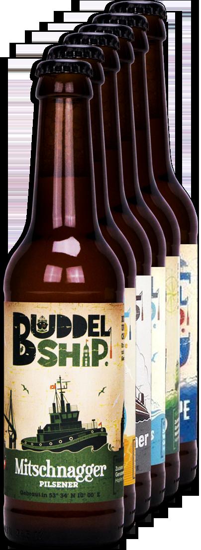 Buddelship core range beers