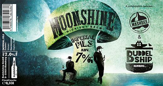 moonshine Buddelship BA & Stout craft beers